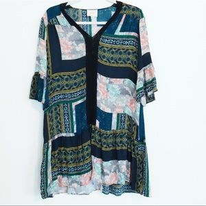 ANTHROPOLOGIE MAEVE PATCHWORK PESANT DRESS